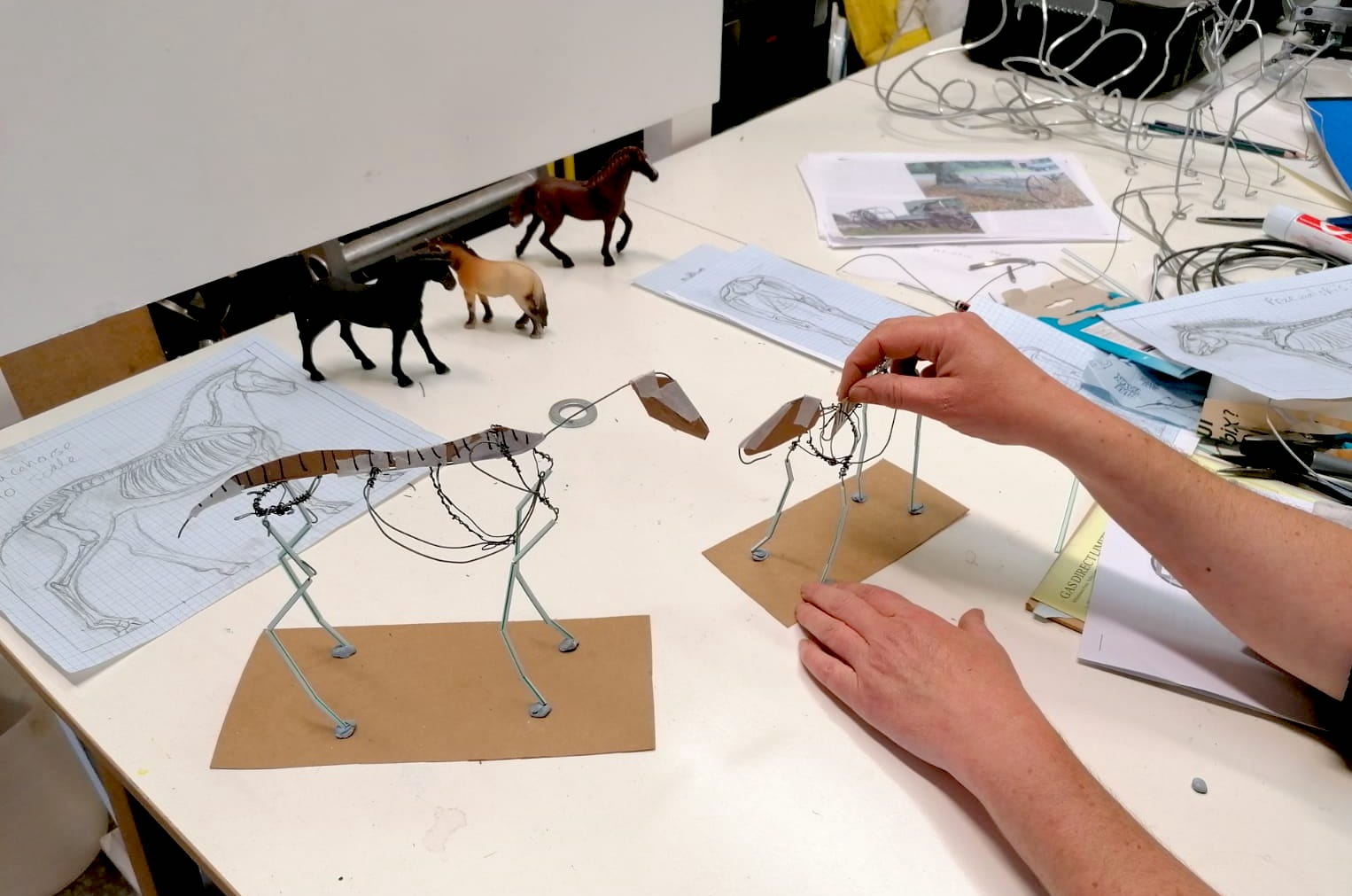 Artist Posing Wire Models