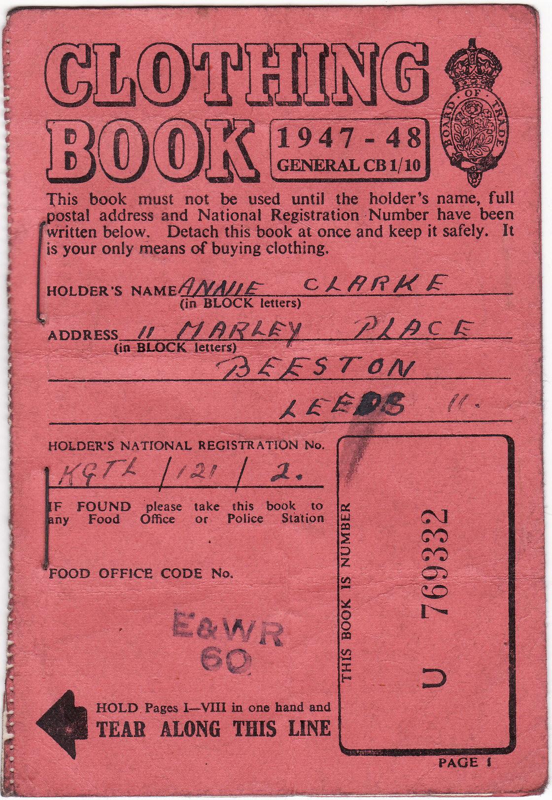 WW2 Clothing Book
