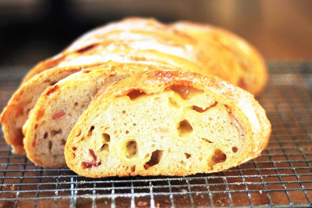 Bacon and Comte Bread
