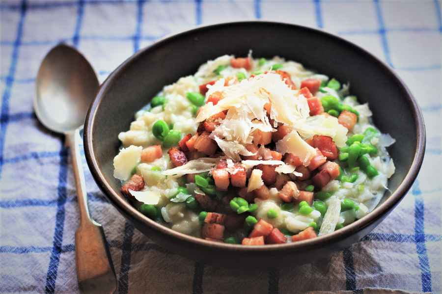 Bacon and Pea Risotto