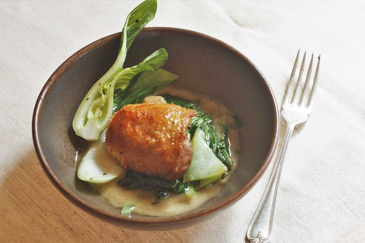 Chicken Confit with Lemon Dressing