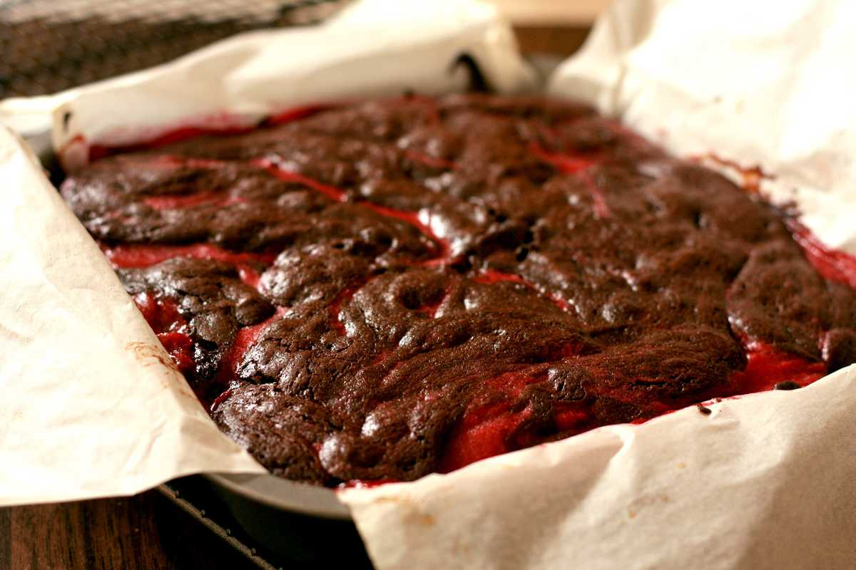 Chocolate and Raspberry Brownies