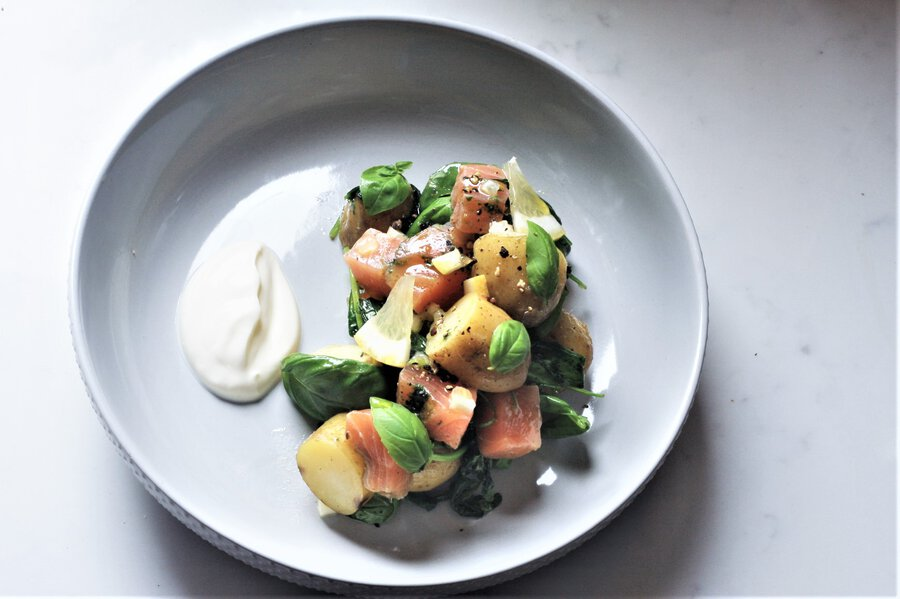 Cured Salmon and Jersey Royals Image