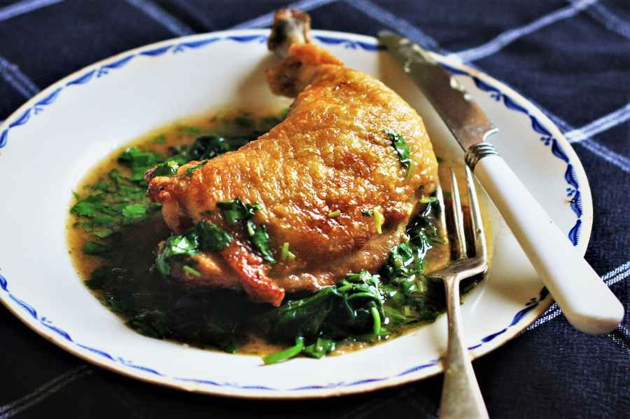 Roast Chicken Leg with Coriander