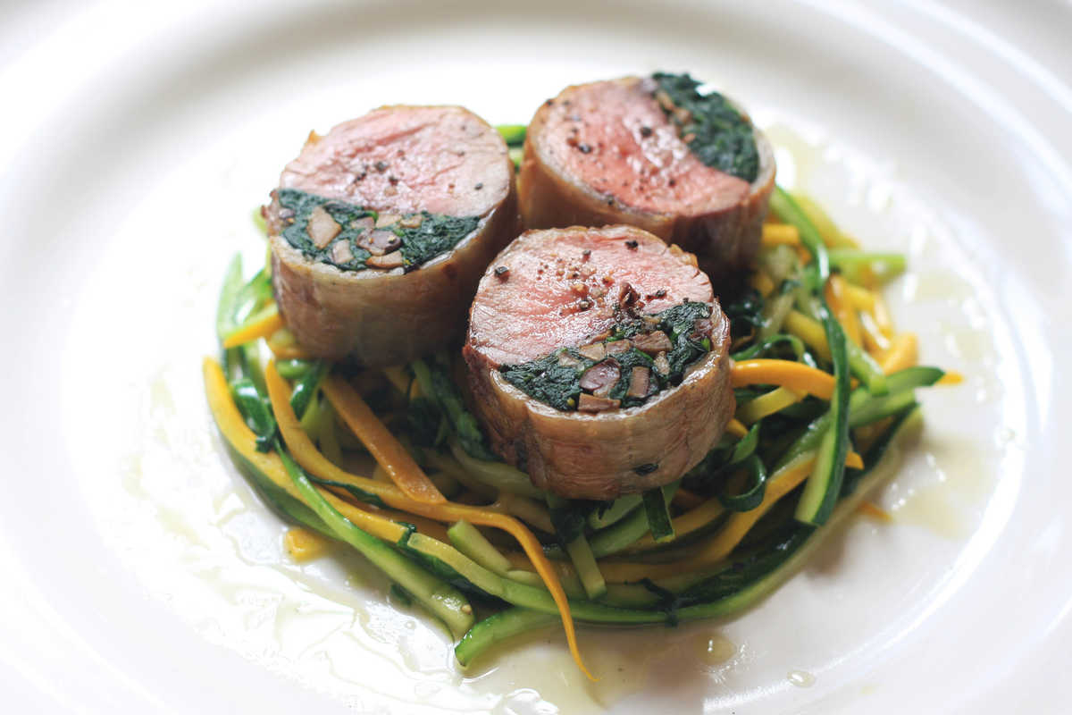 Stuffed Saddle of Lamb Image
