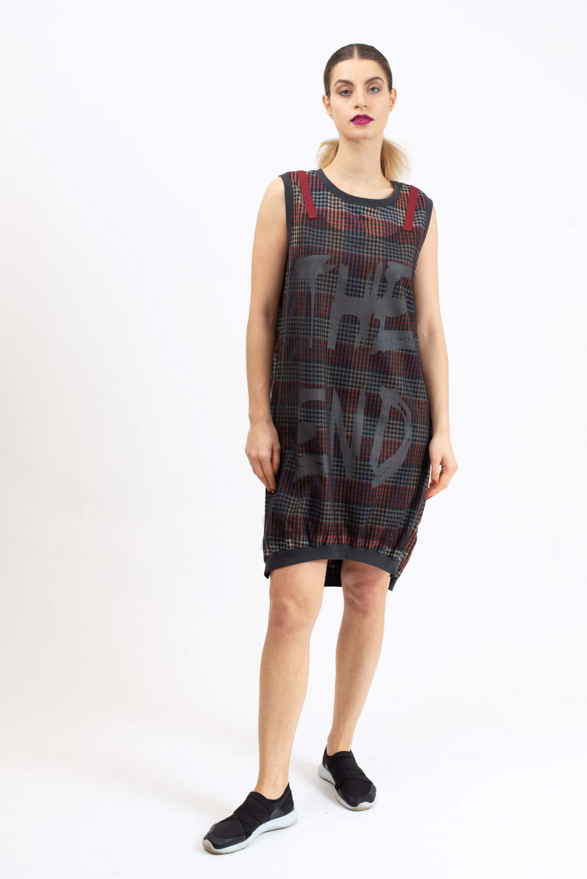 Two elements plaid dress