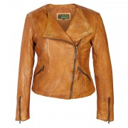 Ladies-Leather-Biker-Jacket-Tan-Sally
