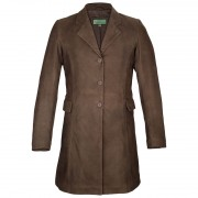 Ladies-long-leather-coat-brown-York-
