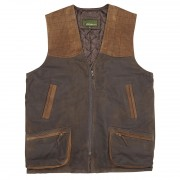 Mens-Leather-Shooting-Vest-Brown-Thorn