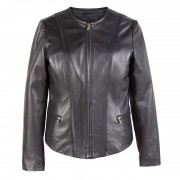 Womens-Collarless-Leather-Jacket-Black-Sophie