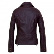 Ladies Leather Ladies jacket Burgundy Tess