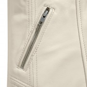 Ladies Niki Cream pocket zip detail