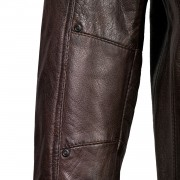 Gents Brown Leather Jacket sleeve detail Danny