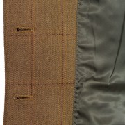 Kelso Tweed Blazer inside button and lining 120