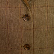 Womens tweed blazer Kelso 120 front button detail