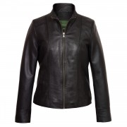 Womens black leather jacket May