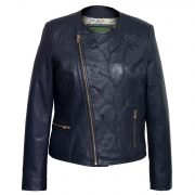 Ladies Navy leather jacket lotty