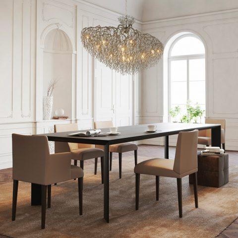 Classic interiors and light sculptures
