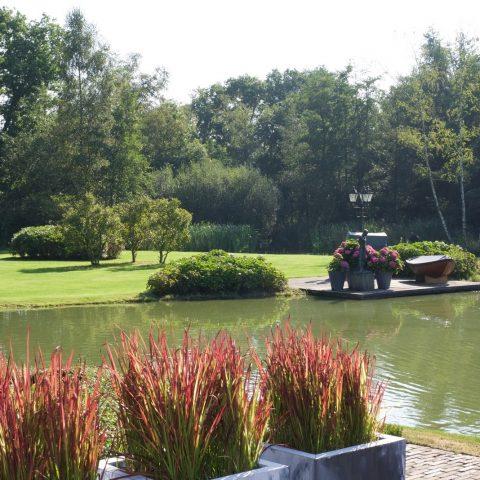 Cozy Farm Garden With Pond