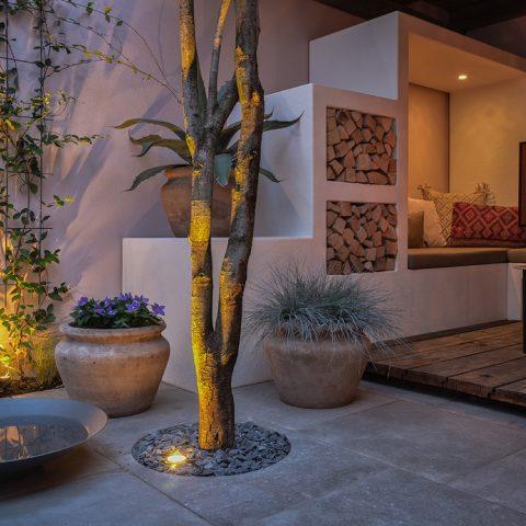 Small city garden in Marrakesh atmosphere
