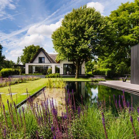 Modern villa garden in Capelle aan den IJssel