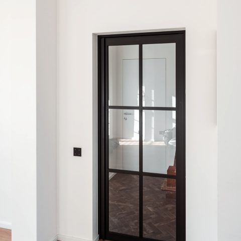 Steel look interior doors