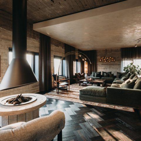 Oak Smoked Tapis parquet floor in 3x herringbone and Hungarian Point