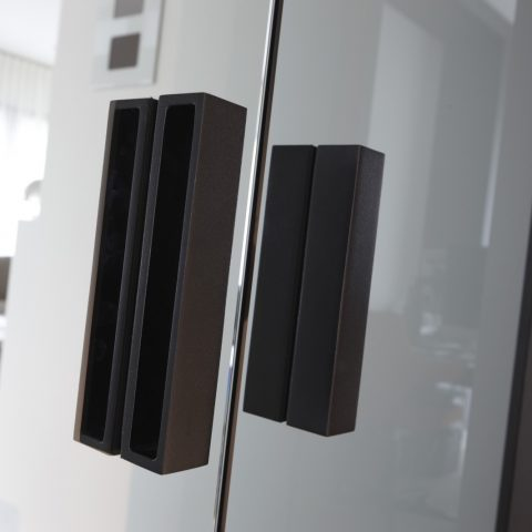House with designer doors