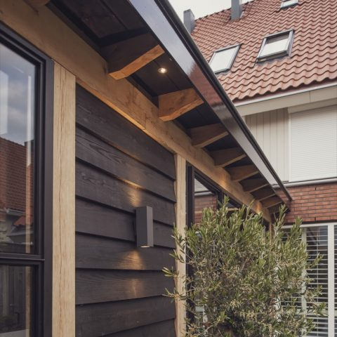 Garden room with steel facade Purmerend