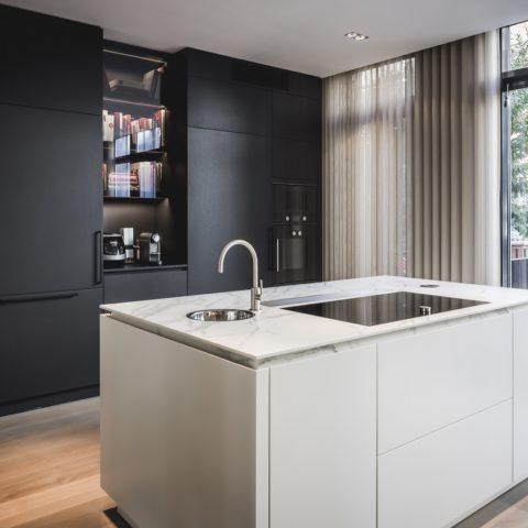 Kitchen with design kitchen units