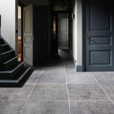 "Outdated Belgian bluestone floor ""La Bourse"""