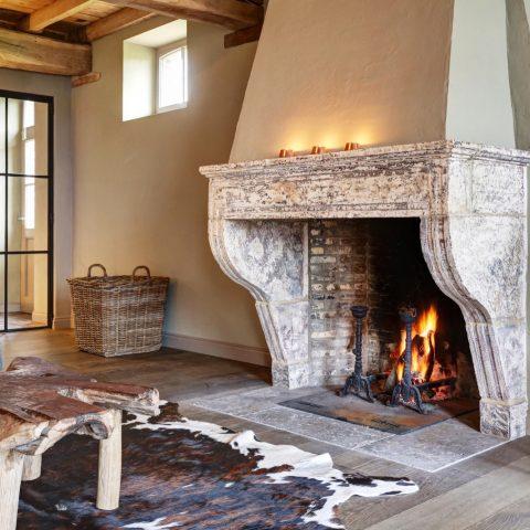 Campagnarde antique fireplace