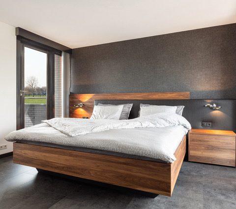 Luxury wooden design bed Duo Pezze