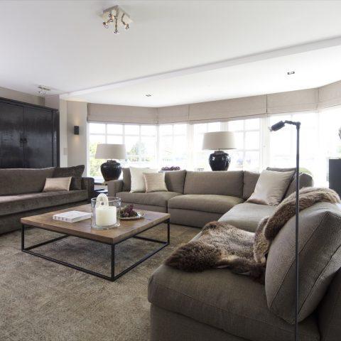 Beautiful open villa interior