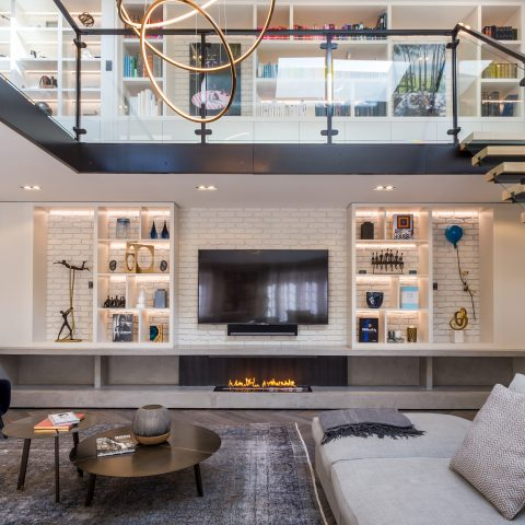 BioFire Concrete Fireplace