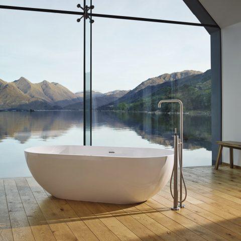 Freestanding design bath taps