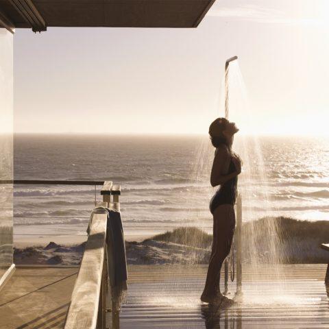 Luxurious outdoor shower
