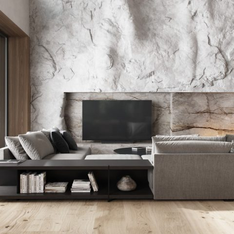 Fireplace FLA3 in modern design Moscow