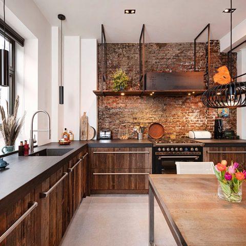 Industriële barnwood keuken