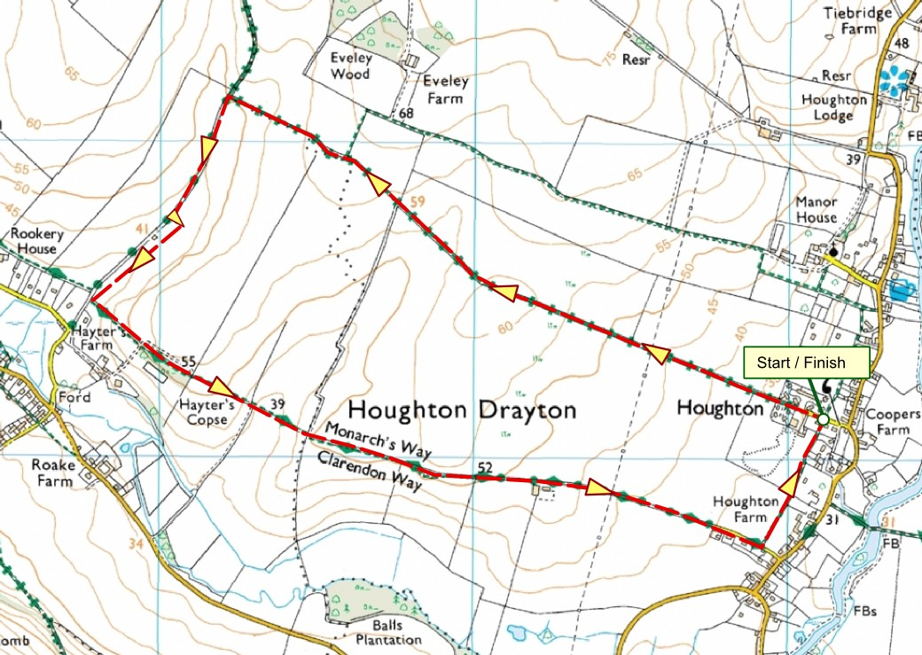 Map of the 5k Cycle Route