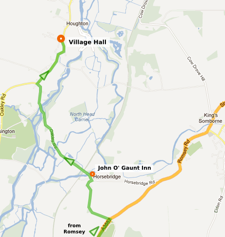 Image of directions from Romsey