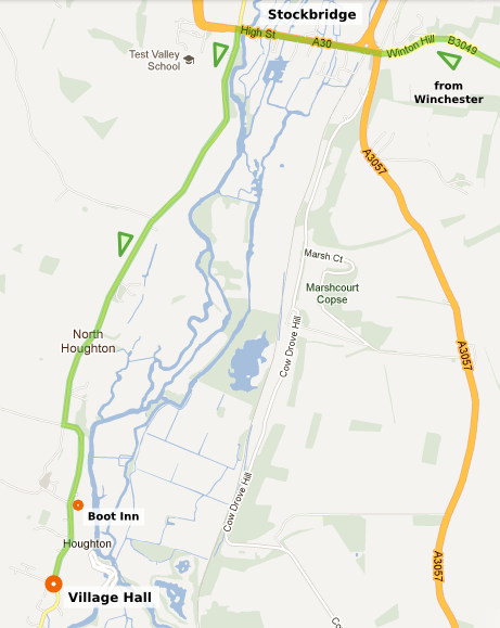 Image of directions from Winchester