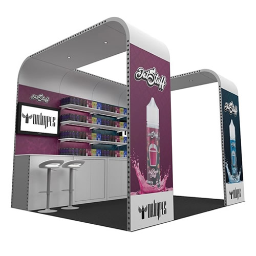 Integra<sup>®</sup> Exhibition Stand 4m x 3m Backwall Kit 12 - To Hire