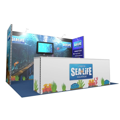 Integra<sup>®</sup> Exhibition Stand 4m x 3m Backwall Kit 36 - To Hire