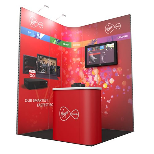 Integra™ Exhibition Stand 2m x 2m Corner Kit 1