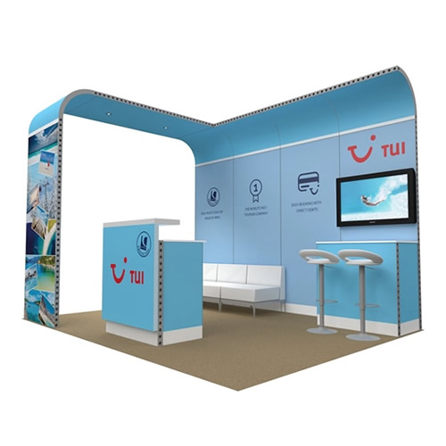 Integra™ Exhibition Stand 4m x 3m Backdrop Kit 13
