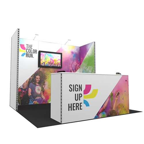 Integra™ Exhibition Stand 3m x 3m Backwall Kit 35