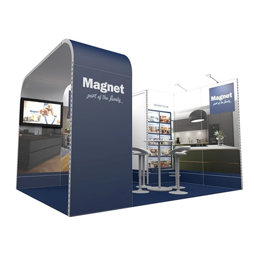 Integra™ Exhibition Stand 4m x 3m Corner Kit 3