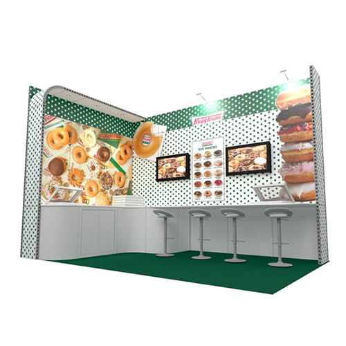 Integra™ Exhibition Stand 5m x 3m L-Shaped Kit 16