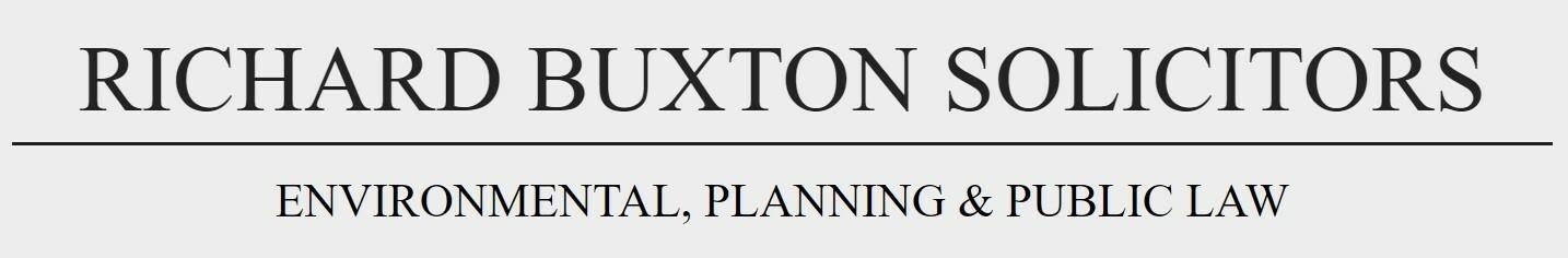 Richard Buxton Environmental & Public Law